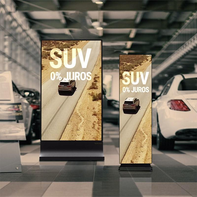 led roll up da netscreen de facil transporte